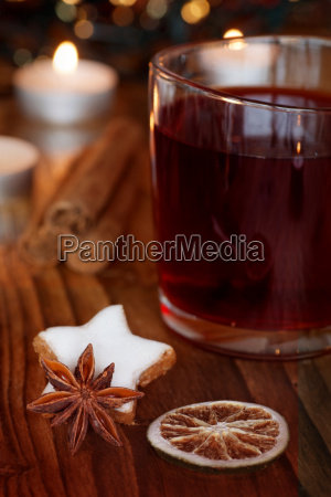 winter still life with mulled wine