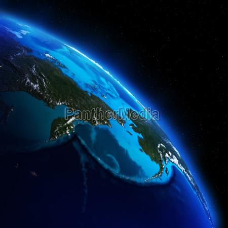 planet earth 3d rendering