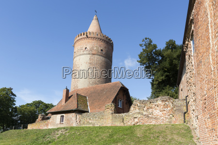 the medieval castle of stargard in