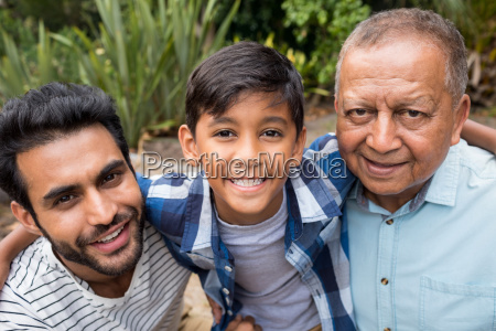close up portrait of family at