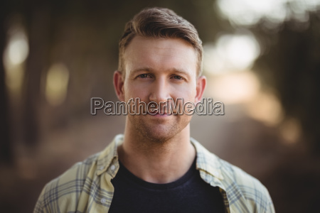 portrait of handsome young man at