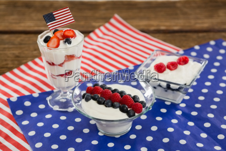 fruit ice cream with 4th july