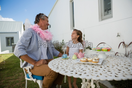 father and daughter in fairy costume