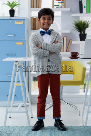 full length portrait of businessman with