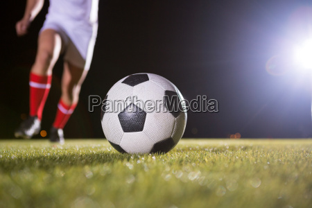 low section of soccer player and