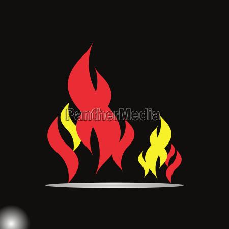 design fire flame element on dark