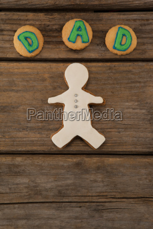 dad text written on cookies with