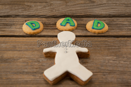 close up of cookies with text