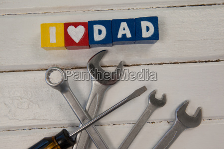 various handtools with text i love