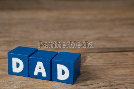 blue cube shapes with white dad