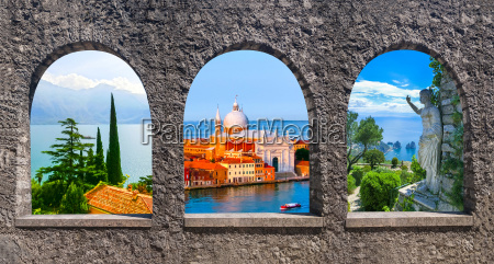 collage from photos of italy