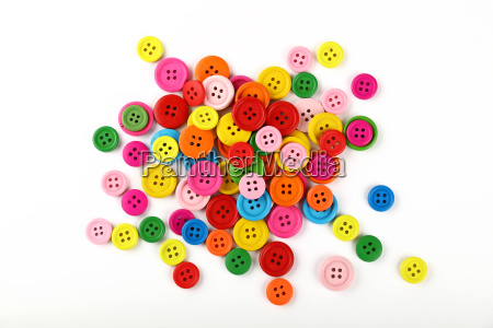 mix of round colorful sewing buttons