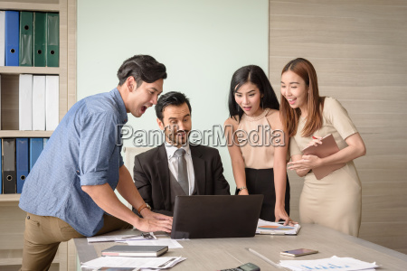 business people happy and surprising successful