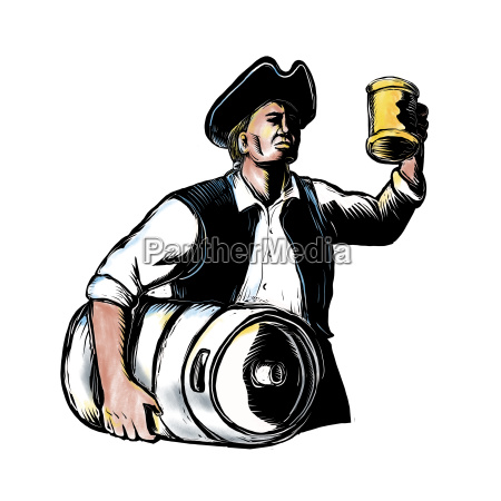 american patriot carry beer keg scratchboard