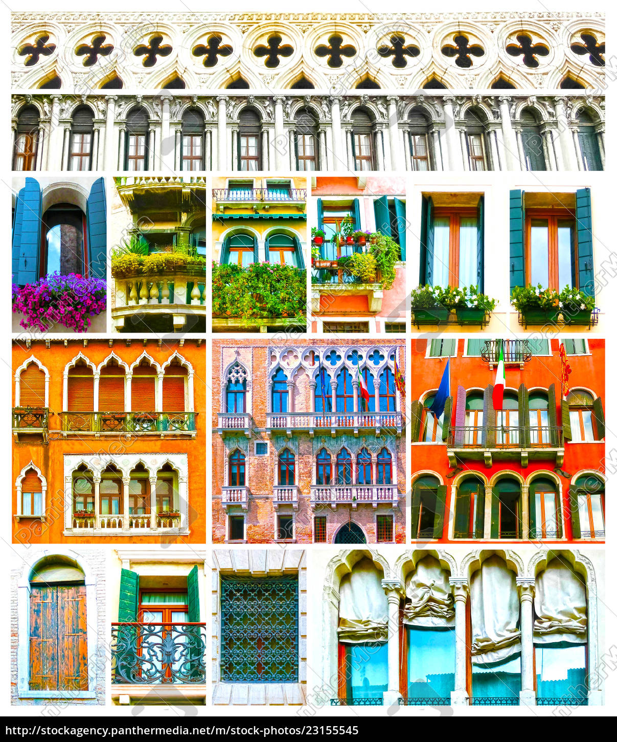 colorful, collage, made, of, windows, from - 23155545