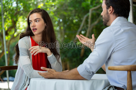 couple having relationship difficulties at outdoor