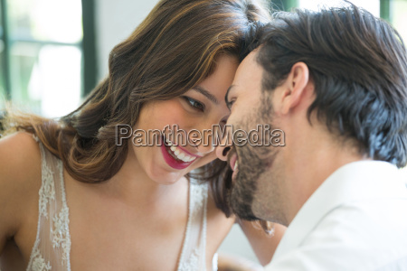 romantic couple spending leisure time in
