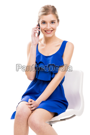beautiful woman talking by phone