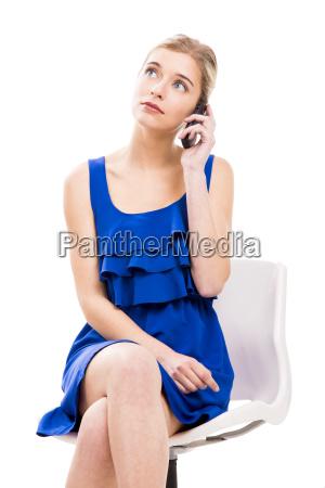 beautiful woman talking by phone