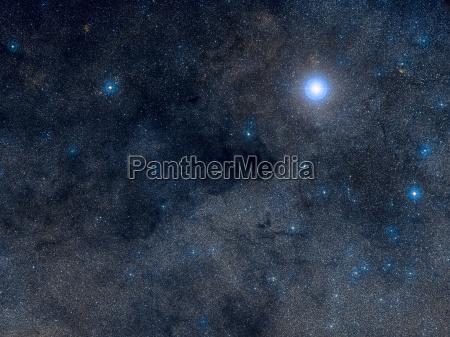 coalsack dark nebula in the constellation