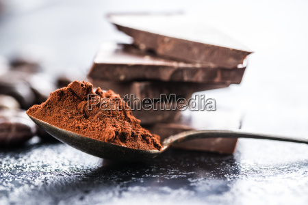 dark cocoa powder and chocolate