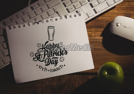 patricks day graphic on paper on