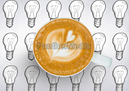 coffee cup against white background with