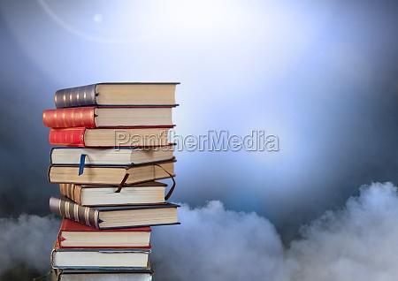 natura morta blu educazione nuvola nuvoloso