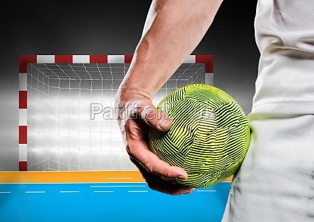 close up of male handball player
