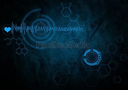 interface elements on dark background