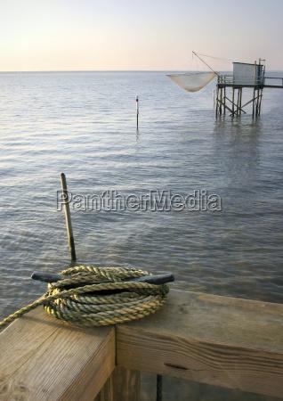 fiserman hut on the sea