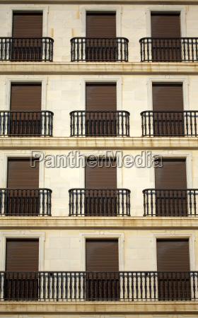 shutters on a facade