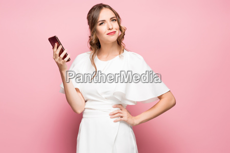 happy woman phone talking face with