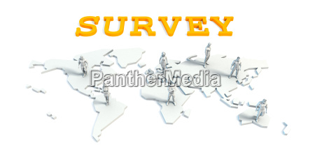 survey concept with business team
