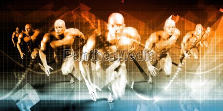 business men running