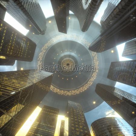 ufo city skyscrapers invasion