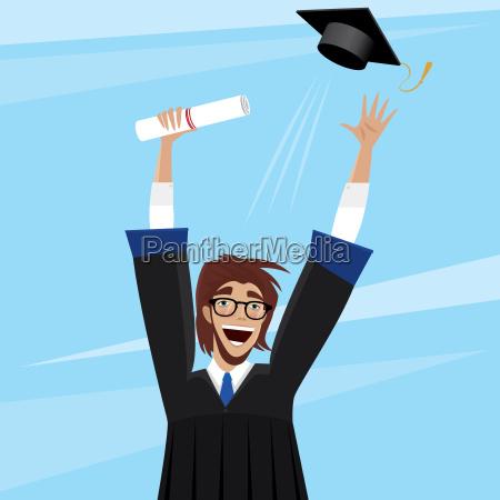student enjoys graduation