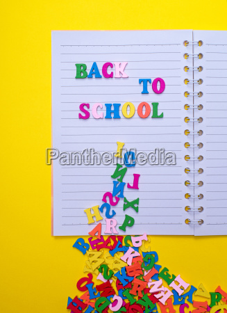 inscription back to school on a