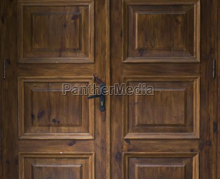 brown entrance wooden door