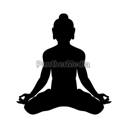 krishna silhouette traditional religion spirituality