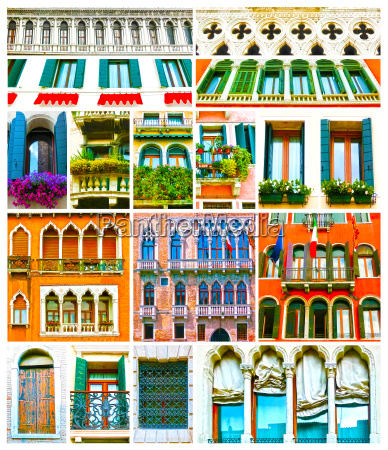 colorful, collage, made, of, windows, from - 23204563