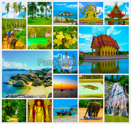 the collage from views of samui