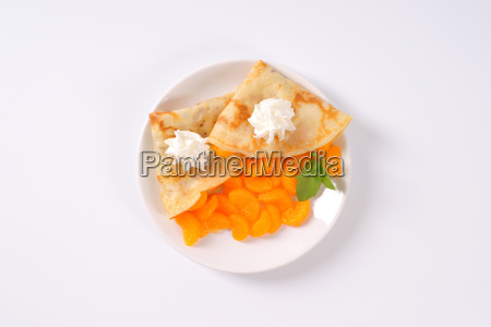 pancakes with canned tangerines
