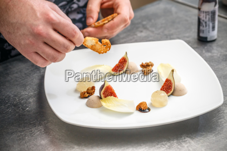 chef is preparing an appetizer