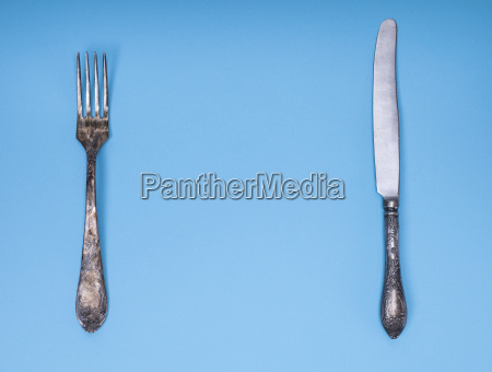 vintage iron fork and knife