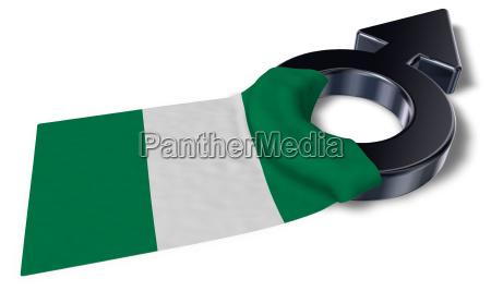 naval symbol and flag of nigeria