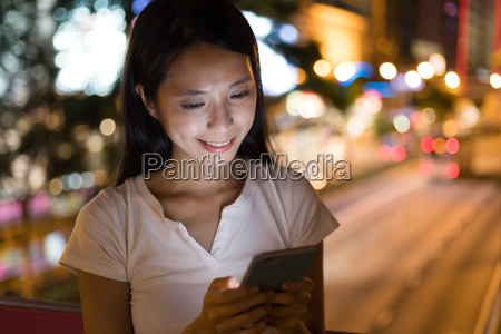 woman use of smart phone in