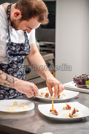 busy chef at work