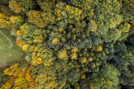aerial drone view of colorful wonderful