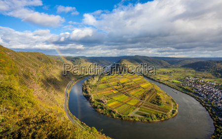 calmont moselle loop landscape in